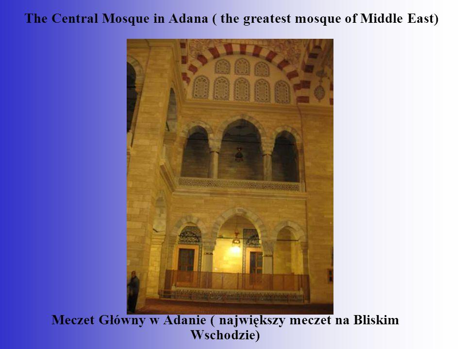 Meczet Główny w Adanie ( największy meczet na Bliskim Wschodzie) The Central Mosque in Adana ( the greatest mosque of Middle East)