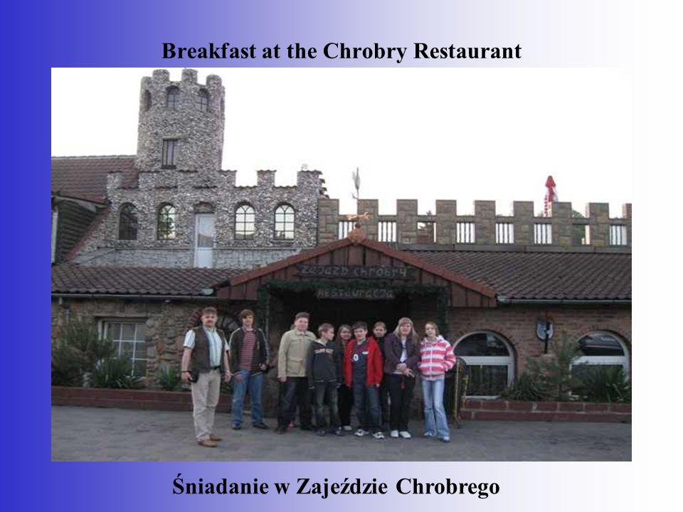 Breakfast at the Chrobry Restaurant Śniadanie w Zajeździe Chrobrego