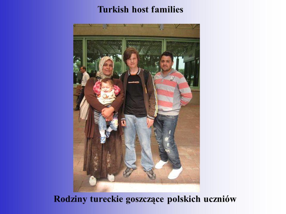 Rodziny tureckie goszczące polskich uczniów Turkish host families