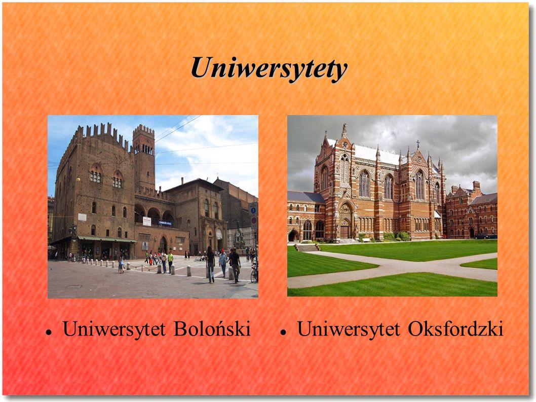 Uniwersytety Uniwersytet Boloński Uniwersytet Oksfordzki