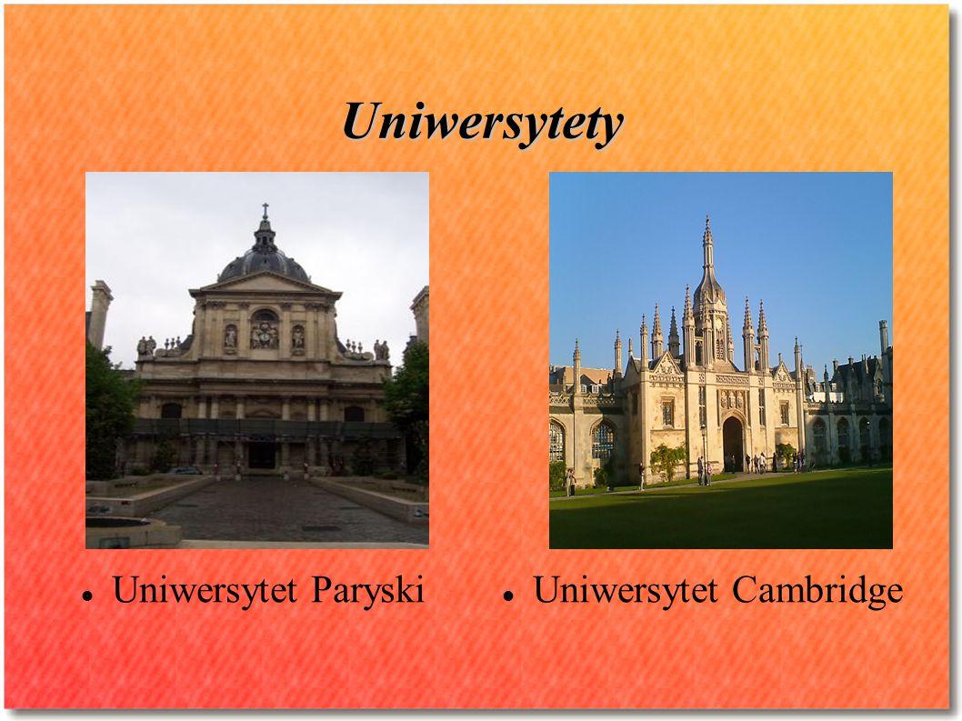 Uniwersytety Uniwersytet Paryski Uniwersytet Cambridge