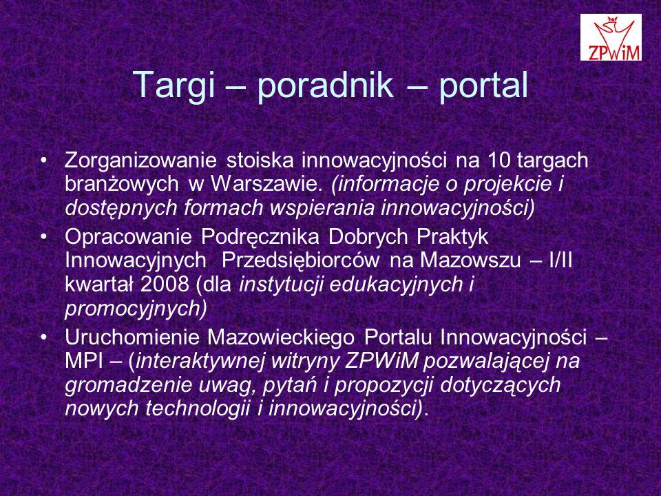 Targi – poradnik – portal Zorganizowanie stoiska innowacyjności na 10 targach branżowych w Warszawie.