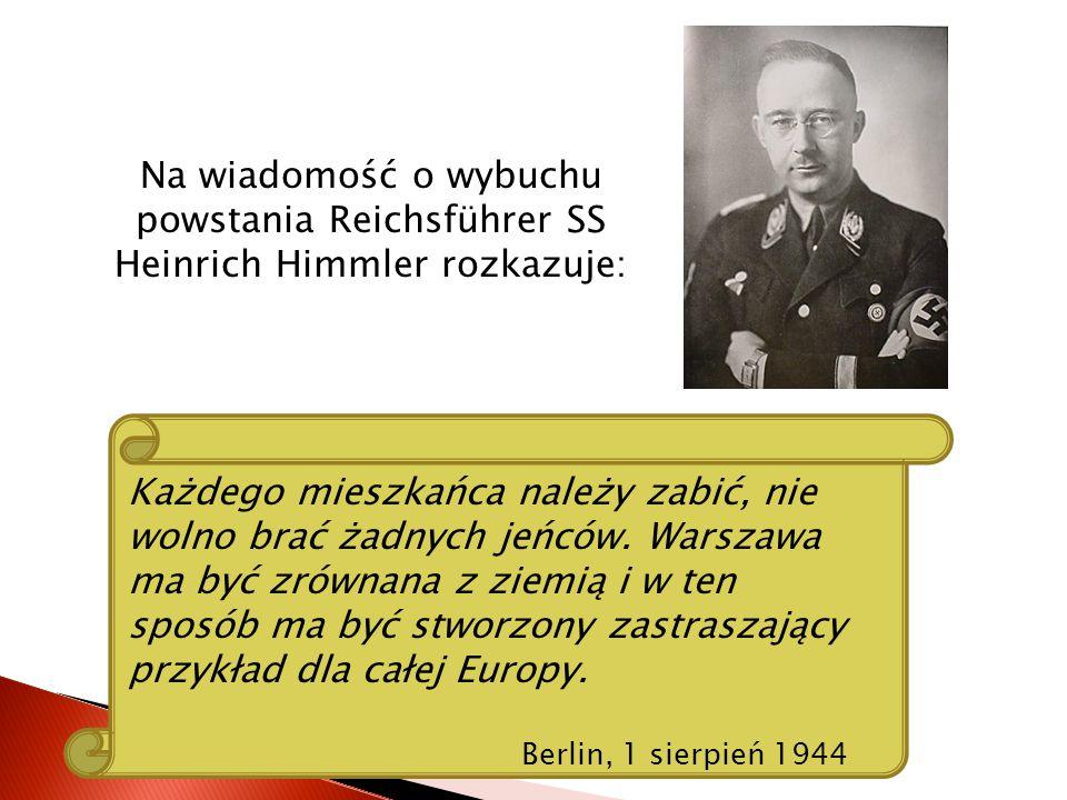 Wybuch powstania nastąpił 1 sierpnia 1944 roku o godzinie W (17:00).