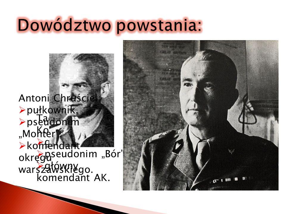 Na wiadomość o wybuchu powstania Reichsführer SS Heinrich Himmler rozkazuje: Każdego mieszkańca należy zabić, nie wolno brać żadnych jeńców. Warszawa