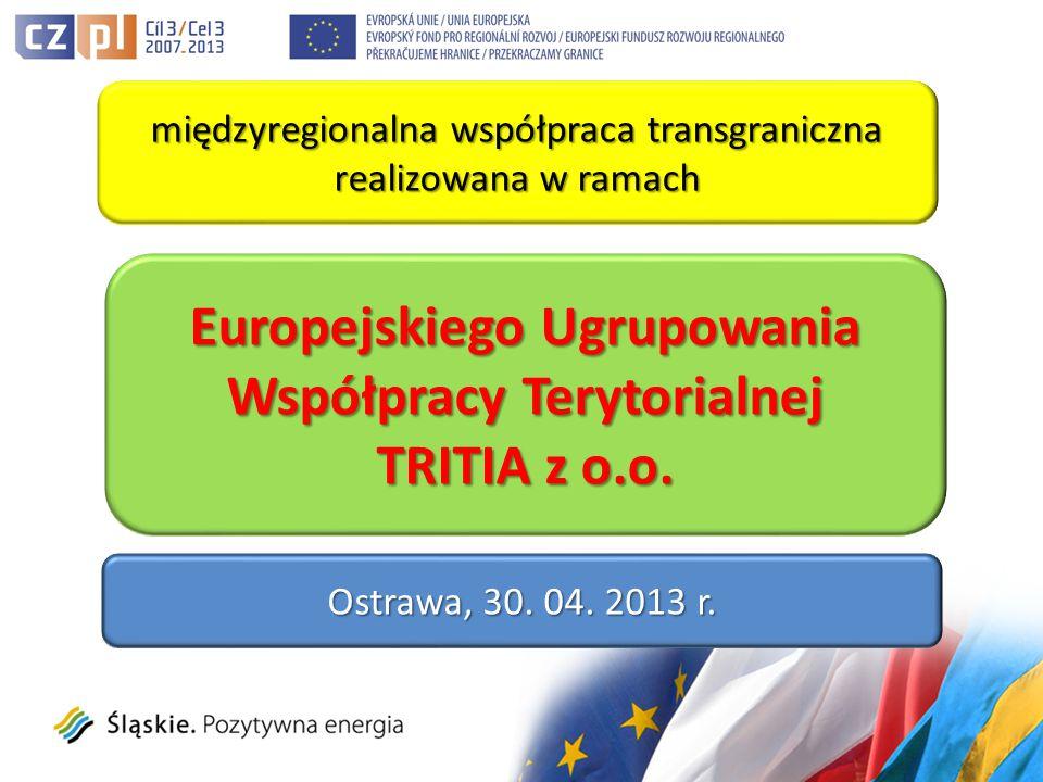 międzyregionalna współpraca transgraniczna realizowana w ramach Europejskiego Ugrupowania Współpracy Terytorialnej TRITIA z o.o.