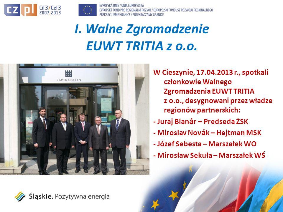 I. Walne Zgromadzenie EUWT TRITIA z o.o.