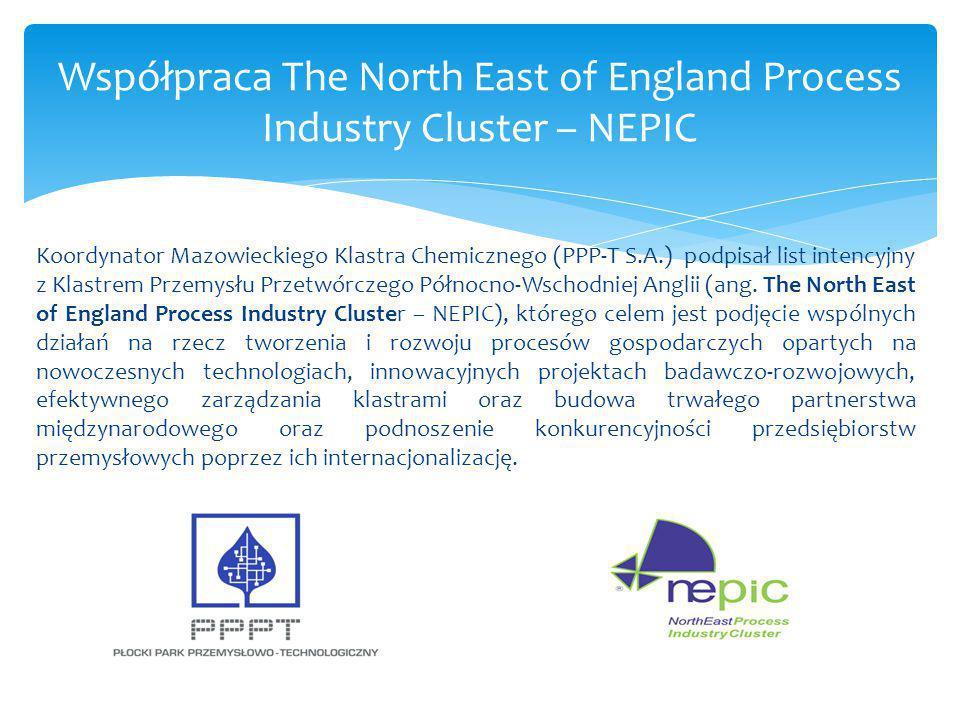 Koordynator Mazowieckiego Klastra Chemicznego (PPP-T S.A.) podpisał list intencyjny z Klastrem Przemysłu Przetwórczego Północno-Wschodniej Anglii (ang