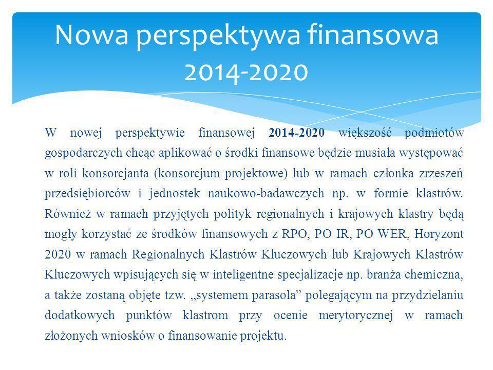 W nowej perspektywie finansowej 2014-2020 większość podmiotów gospodarczych chcąc aplikować o środki finansowe będzie musiała występować w roli konsor