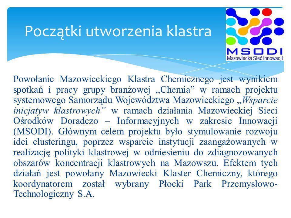 List intencyjny w zakresie powołania Mazowieckiego Klastra Chemicznego został podpisany w dniu 26 marca 2014 r.