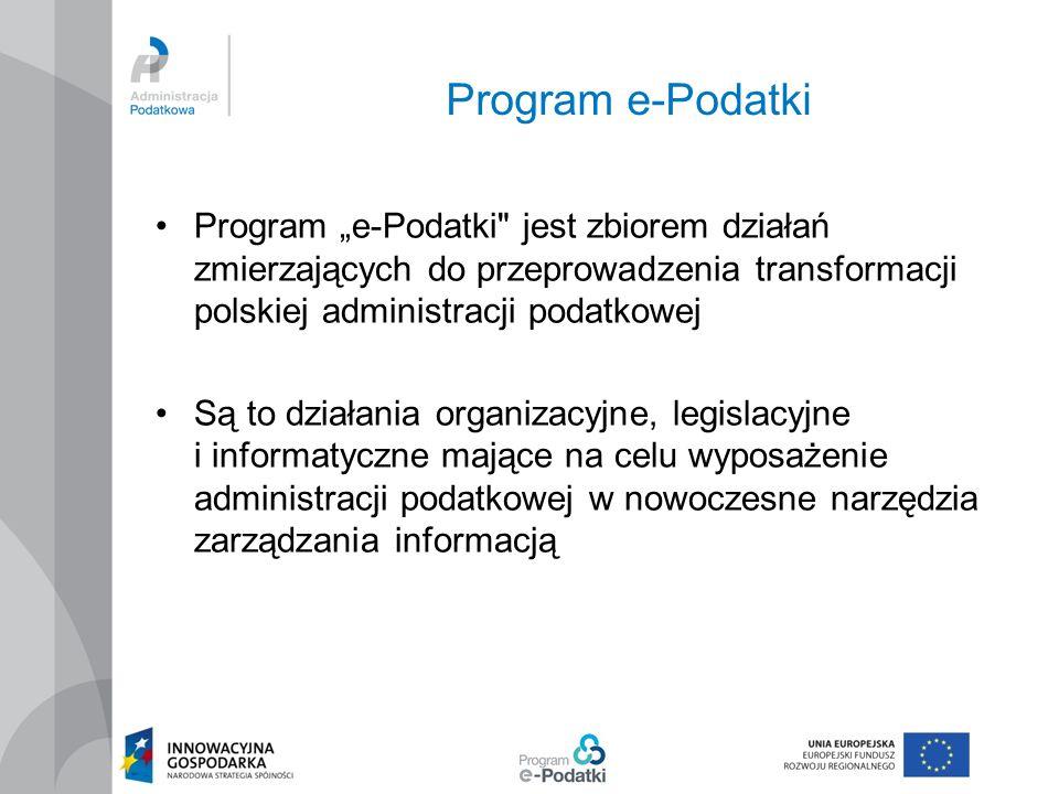 "Program e-Podatki Program ""e-Podatki"