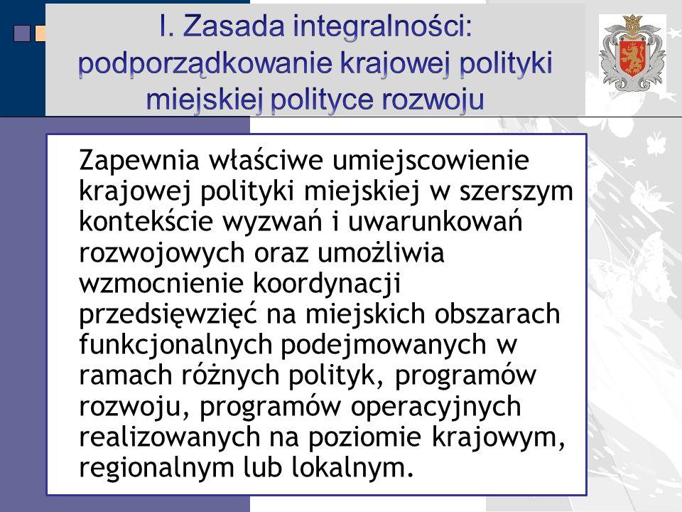 LPR Miasta Bochnia na lata 2014-2020 Zapewnia właściwe umiejscowienie krajowej polityki miejskiej w szerszym kontekście wyzwań i uwarunkowań rozwojowych oraz umożliwia wzmocnienie koordynacji przedsięwzięć na miejskich obszarach funkcjonalnych podejmowanych w ramach różnych polityk, programów rozwoju, programów operacyjnych realizowanych na poziomie krajowym, regionalnym lub lokalnym.
