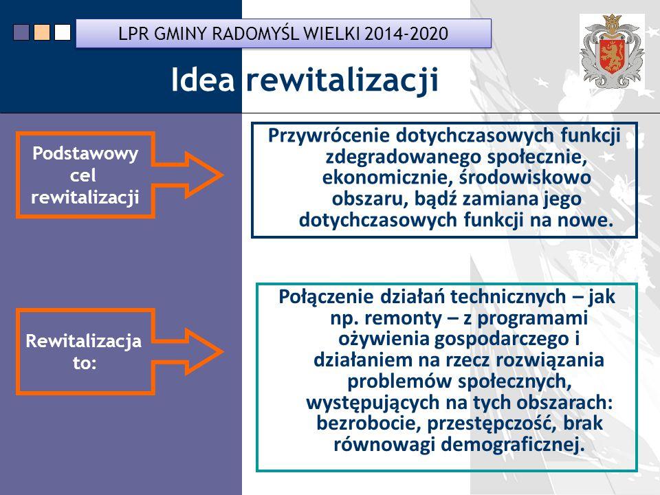 LPR Miasta Bochnia na lata 2014-2020 Przywrócenie dotychczasowych funkcji zdegradowanego społecznie, ekonomicznie, środowiskowo obszaru, bądź zamiana jego dotychczasowych funkcji na nowe.
