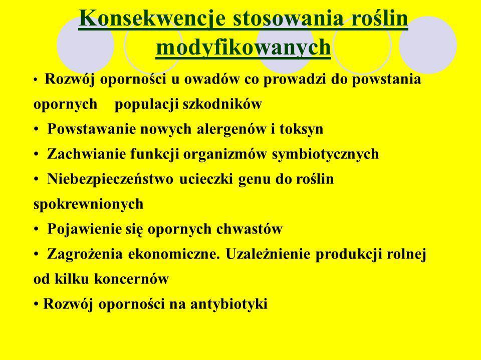 Zakaz GMO w Polsce Na skutek zakazu upraw GMO wprowadzonego 2 stycznia przez rząd, w Polsce nie będzie można uprawiać roślin modyfikowanych genetyczni