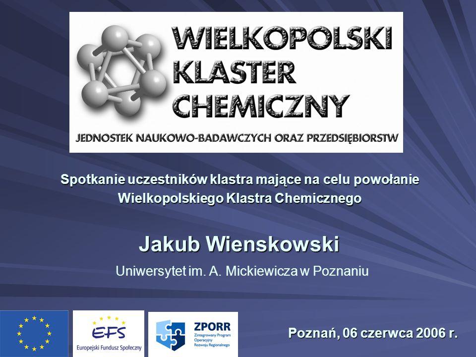 Jakub Wienskowski Jakub Wienskowski Uniwersytet im. A. Mickiewicza w Poznaniu Poznań, 06 czerwca 2006 r. Poznań, 06 czerwca 2006 r. Spotkanie uczestni