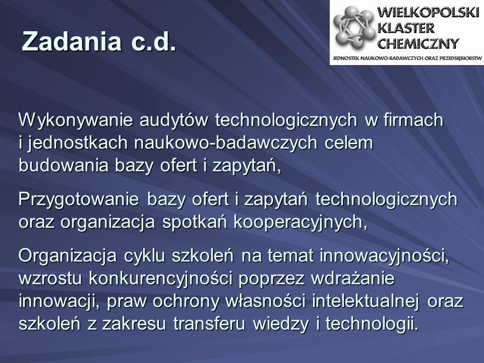 Zadania c.d. Wykonywanie audytów technologicznych w firmach i jednostkach naukowo-badawczych celem budowania bazy ofert i zapytań, Przygotowanie bazy