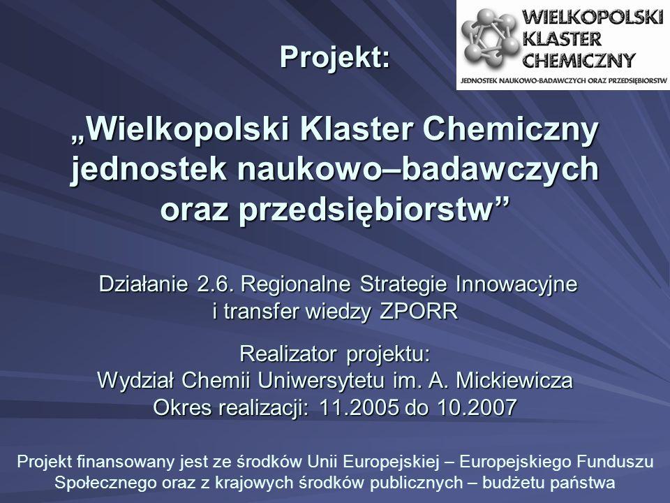 Działanie 2.6.Regionalne Strategie Innowacyjne i transfer wiedzy ZPORR Działanie 2.6.