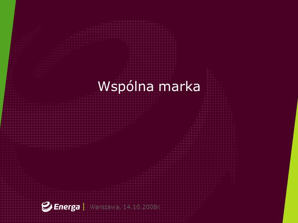 Gdańsk, dd.mm.2008r.Warszawa, 14.10.2008r. Wspólna marka