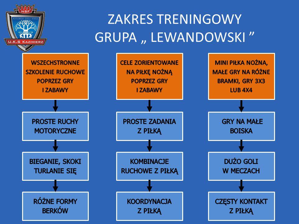 "ZAKRES TRENINGOWY GRUPA "" LEWANDOWSKI """