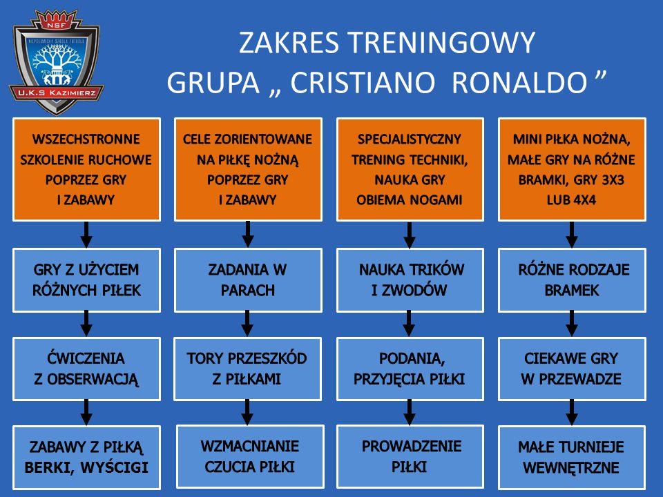 """ZAKRES TRENINGOWY GRUPA """" CRISTIANO RONALDO """""""
