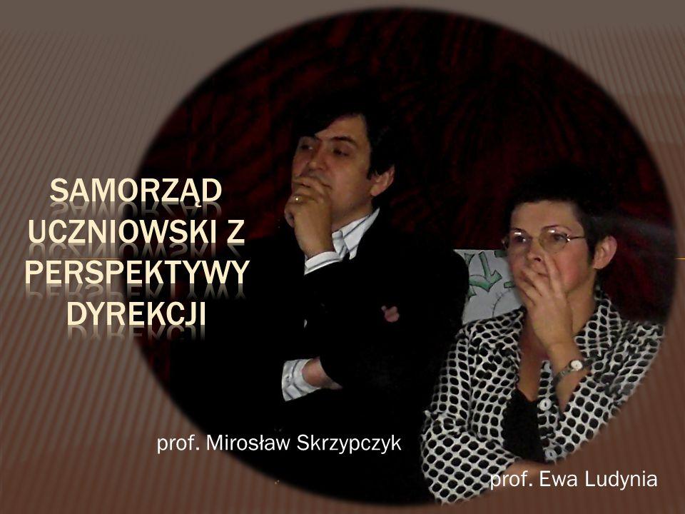 prof. Mirosław Skrzypczyk prof. Ewa Ludynia
