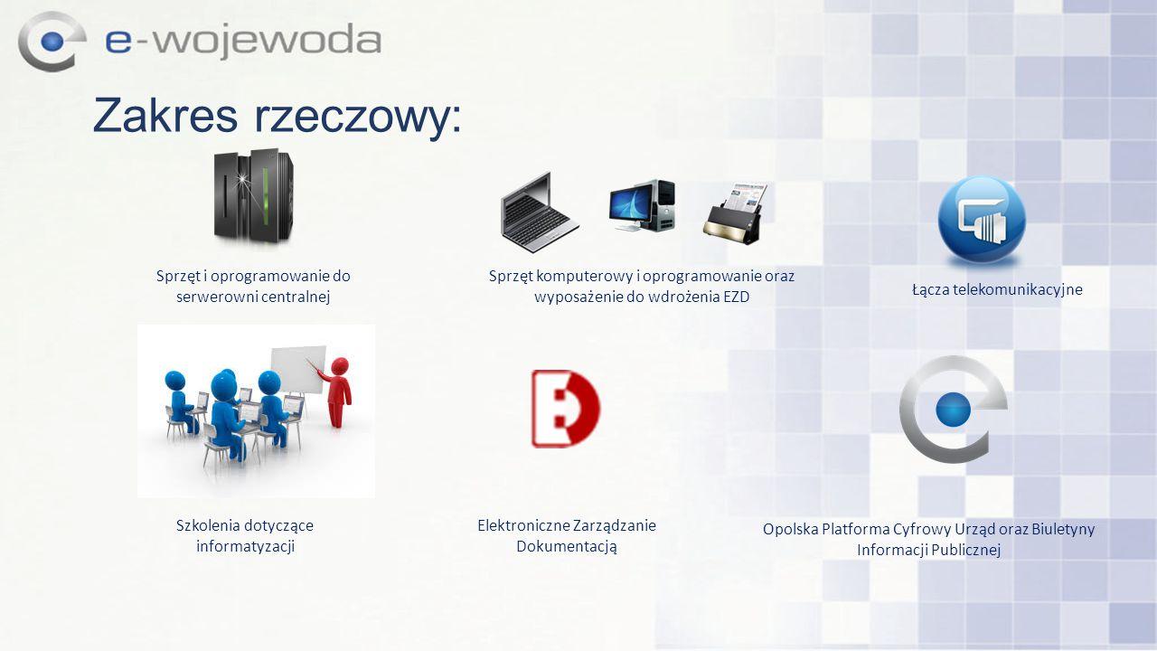 Opolska Platforma Cyfrowy Urząd oraz Biuletyny Informacji Publicznej Zakres rzeczowy: Sprzęt komputerowy i oprogramowanie oraz wyposażenie do wdrożeni