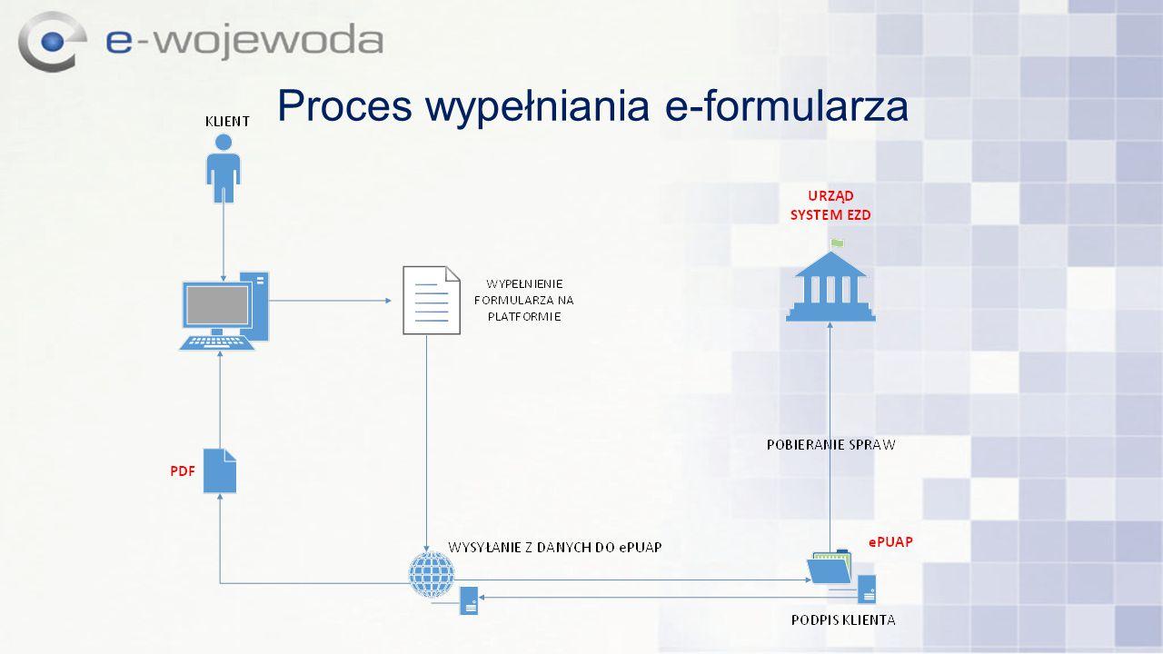 Proces wypełniania e-formularza