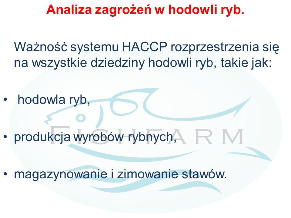 Analiza zagrożeń w hodowli ryb. Ważność systemu HACCP rozprzestrzenia się na wszystkie dziedziny hodowli ryb, takie jak: hodowla ryb, produkcja wyrobó