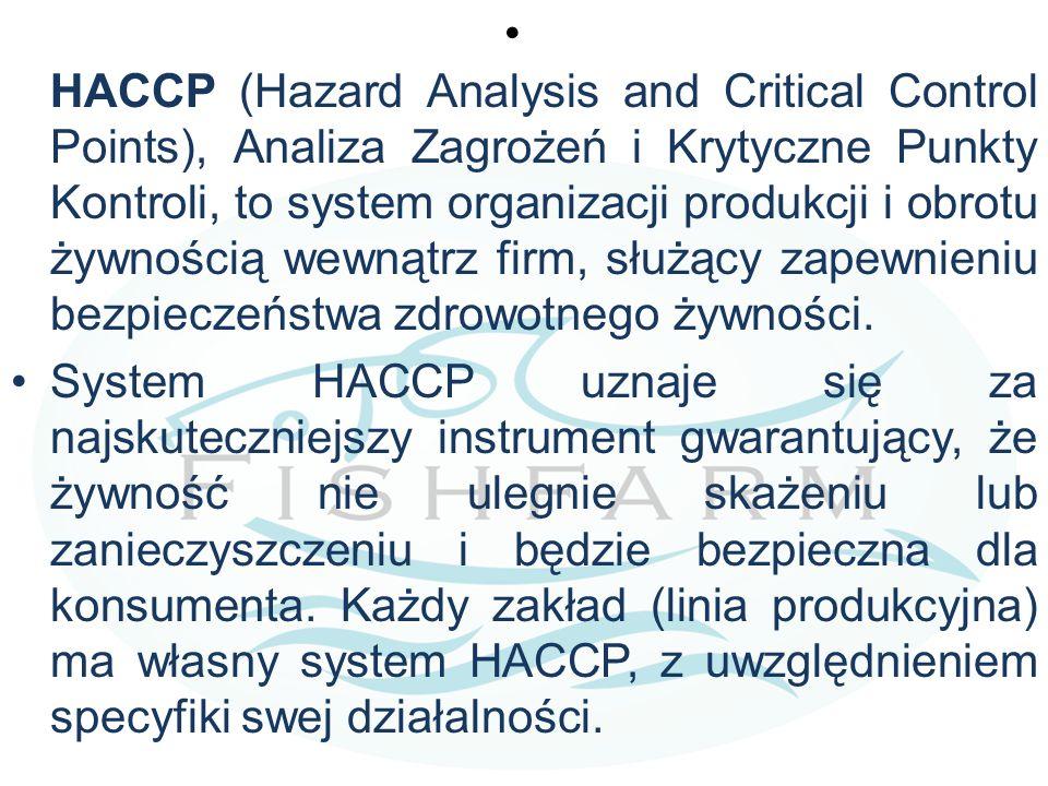 HACCP (Hazard Analysis and Critical Control Points), Analiza Zagrożeń i Krytyczne Punkty Kontroli, to system organizacji produkcji i obrotu żywnością