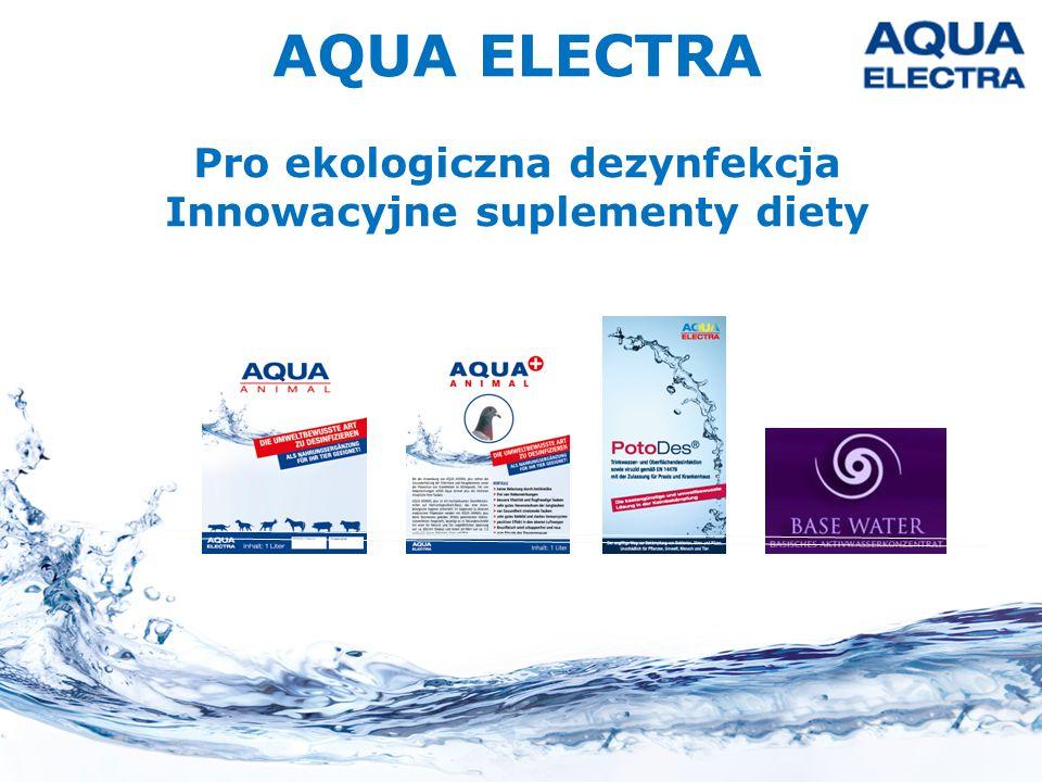 AQUA ELECTRA Pro ekologiczna dezynfekcja Innowacyjne suplementy diety