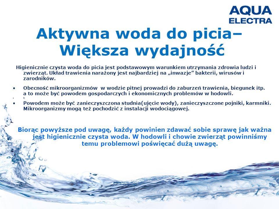 """Higienicznie czysta woda do picia jest podstawowym warunkiem utrzymania zdrowia ludzi i zwierząt. Układ trawienia narażony jest najbardziej na """"inwazj"""