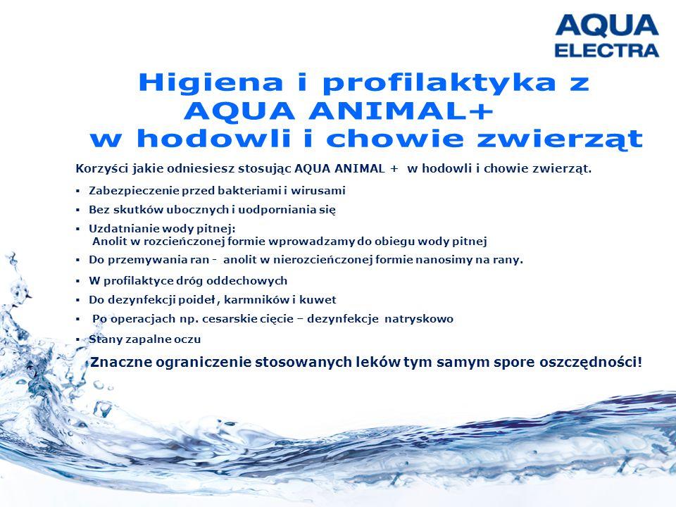 Korzyści jakie odniesiesz stosując AQUA ANIMAL + w hodowli i chowie zwierząt.  Zabezpieczenie przed bakteriami i wirusami  Bez skutków ubocznych i u