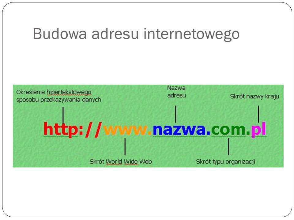 Budowa adresu internetowego
