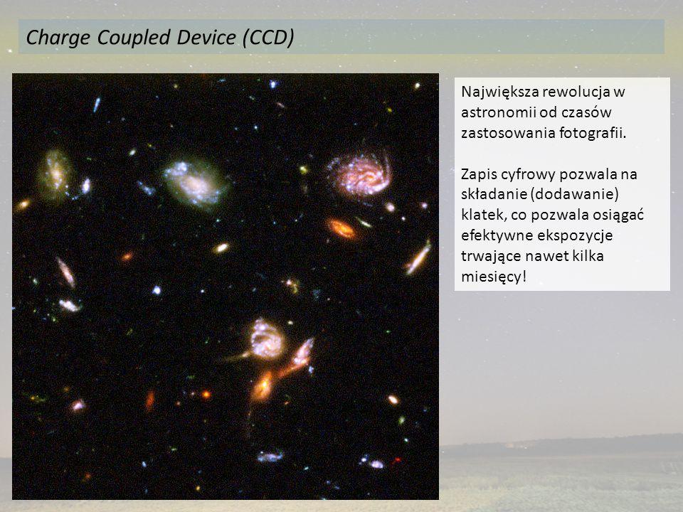 Największa rewolucja w astronomii od czasów zastosowania fotografii. Zapis cyfrowy pozwala na składanie (dodawanie) klatek, co pozwala osiągać efektyw