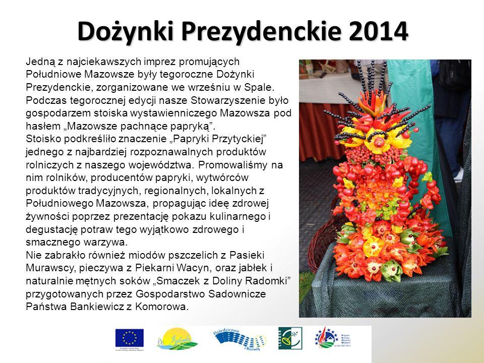 Dożynki Prezydenckie 2014 Jedną z najciekawszych imprez promujących Południowe Mazowsze były tegoroczne Dożynki Prezydenckie, zorganizowane we wrześniu w Spale.
