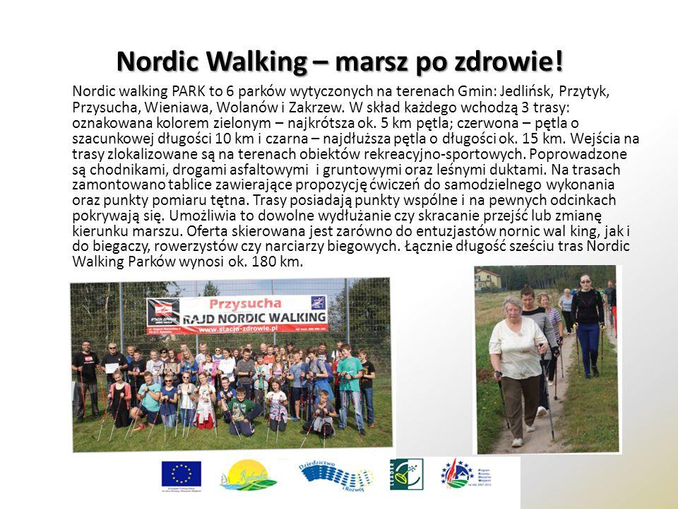 Nordic Walking – marsz po zdrowie! Nordic walking PARK to 6 parków wytyczonych na terenach Gmin: Jedlińsk, Przytyk, Przysucha, Wieniawa, Wolanów i Zak