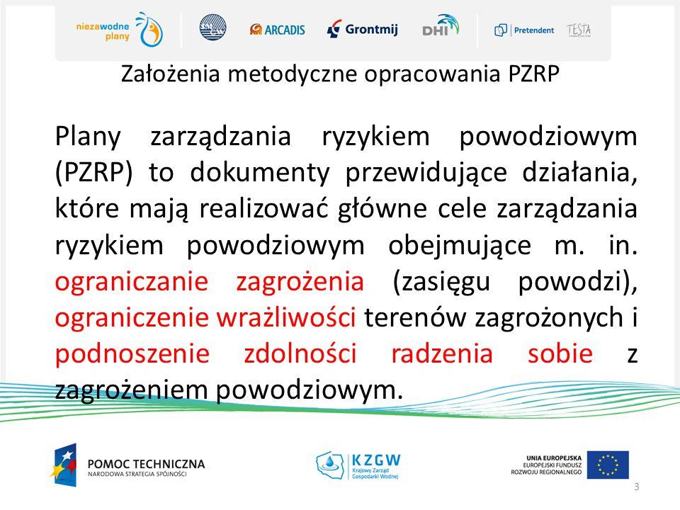 Założenia metodyczne opracowania PZRP 3 Plany zarządzania ryzykiem powodziowym (PZRP) to dokumenty przewidujące działania, które mają realizować główne cele zarządzania ryzykiem powodziowym obejmujące m.