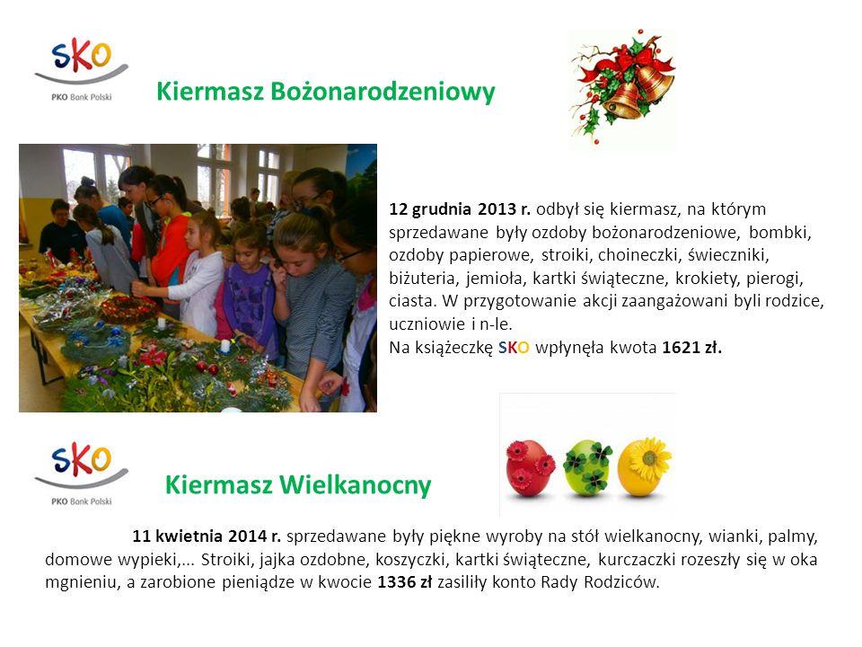 Kiermasz Bożonarodzeniowy 12 grudnia 2013 r. odbył się kiermasz, na którym sprzedawane były ozdoby bożonarodzeniowe, bombki, ozdoby papierowe, stroiki