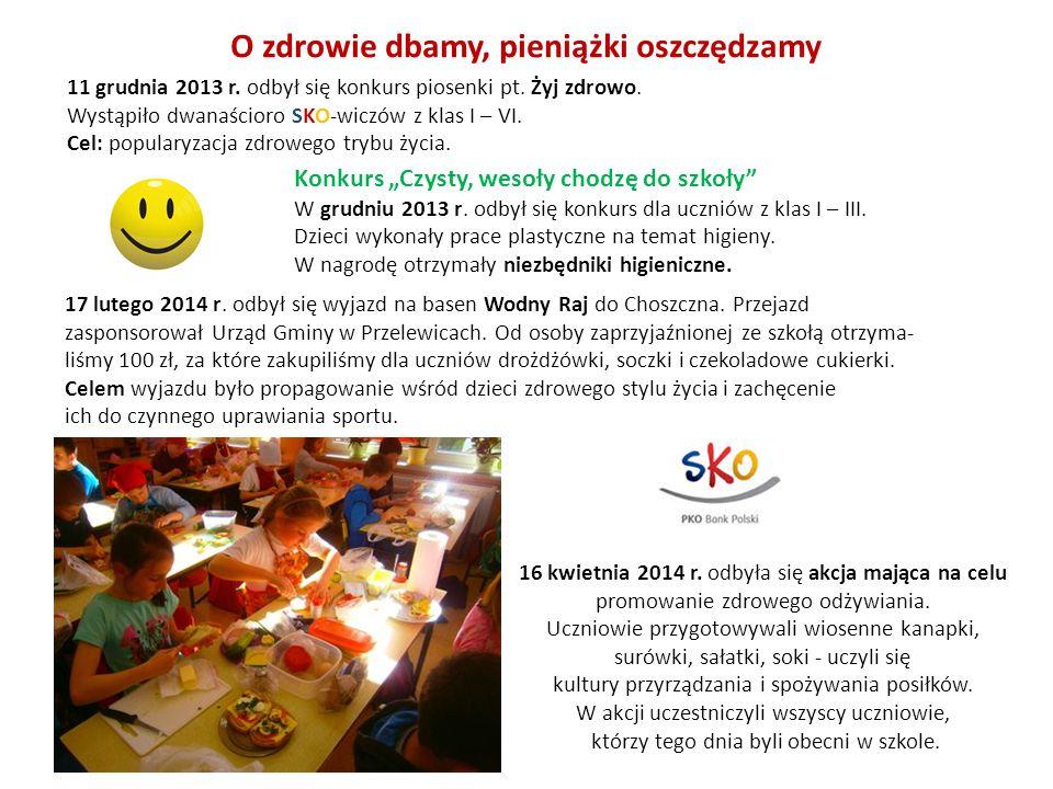 16 kwietnia 2014 r. odbyła się akcja mająca na celu promowanie zdrowego odżywiania. Uczniowie przygotowywali wiosenne kanapki, surówki, sałatki, soki