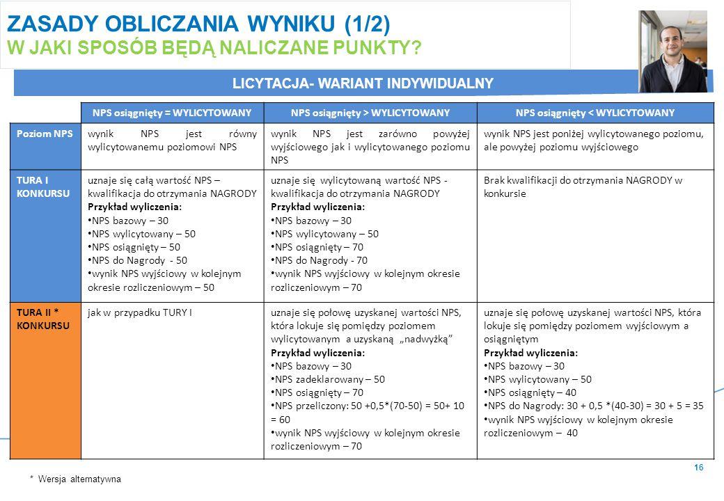 16 ZASADY OBLICZANIA WYNIKU (1/2) W JAKI SPOSÓB BĘDĄ NALICZANE PUNKTY.