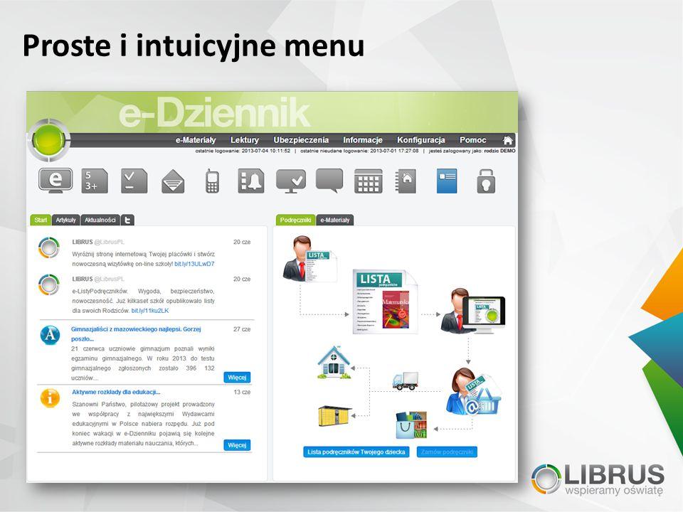 Proste i intuicyjne menu