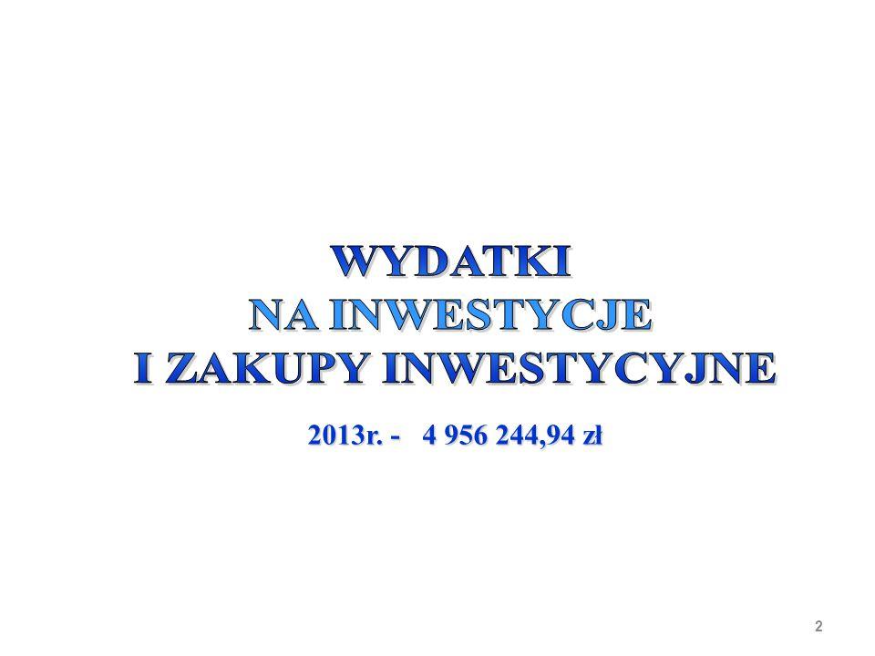 2 2013r. - 4 956 244,94 zł 2013r. - 4 956 244,94 zł