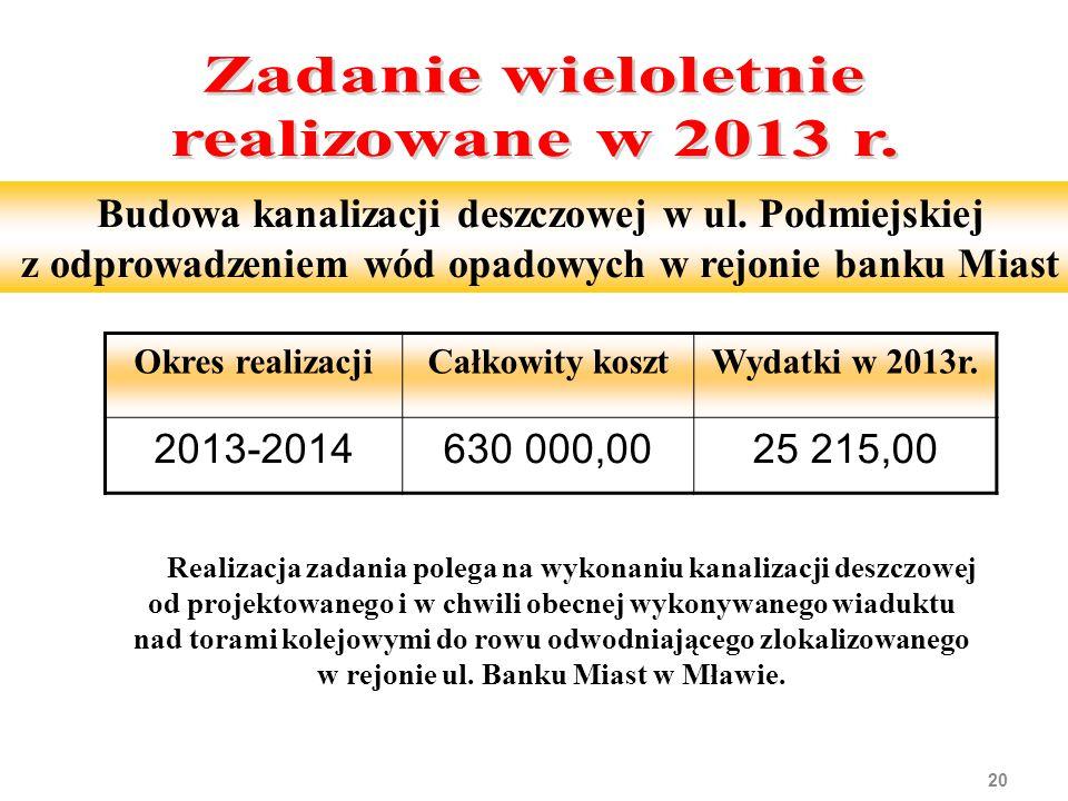 20 Budowa kanalizacji deszczowej w ul.