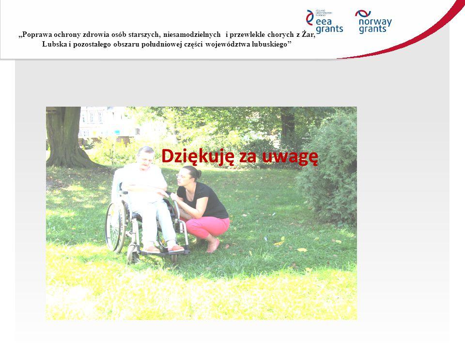 """""""Poprawa ochrony zdrowia osób starszych, niesamodzielnych i przewlekle chorych z Żar, Lubska i pozostałego obszaru południowej części województwa lubu"""