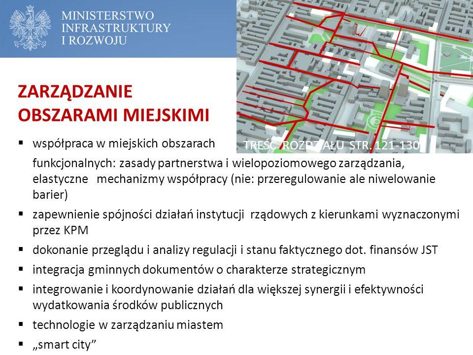 ZARZĄDZANIE OBSZARAMI MIEJSKIMI  współpraca w miejskich obszarach funkcjonalnych: zasady partnerstwa i wielopoziomowego zarządzania, elastyczne mecha