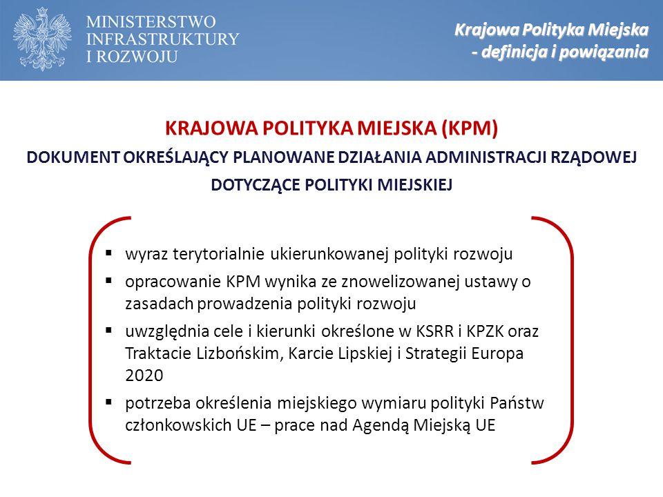  wyraz terytorialnie ukierunkowanej polityki rozwoju  opracowanie KPM wynika ze znowelizowanej ustawy o zasadach prowadzenia polityki rozwoju  uwzg
