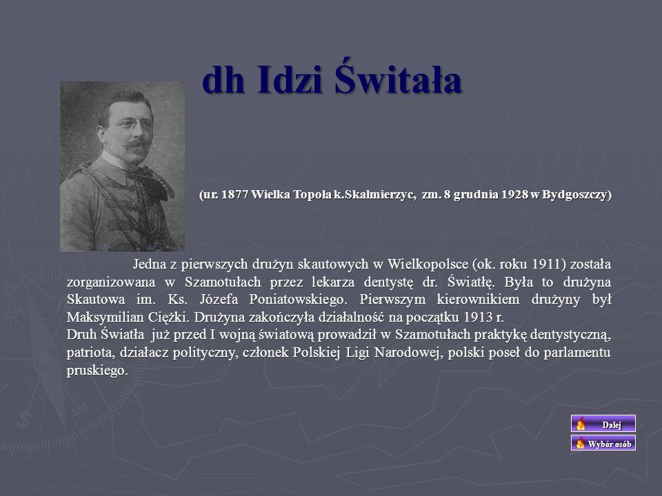 Około roku 1913 utworzono Drużynę Skautową im. Stefana Czarnieckiego, której organizatorem był Cezary Jindra. Jej członkowie rekrutowali się z rozwiąz