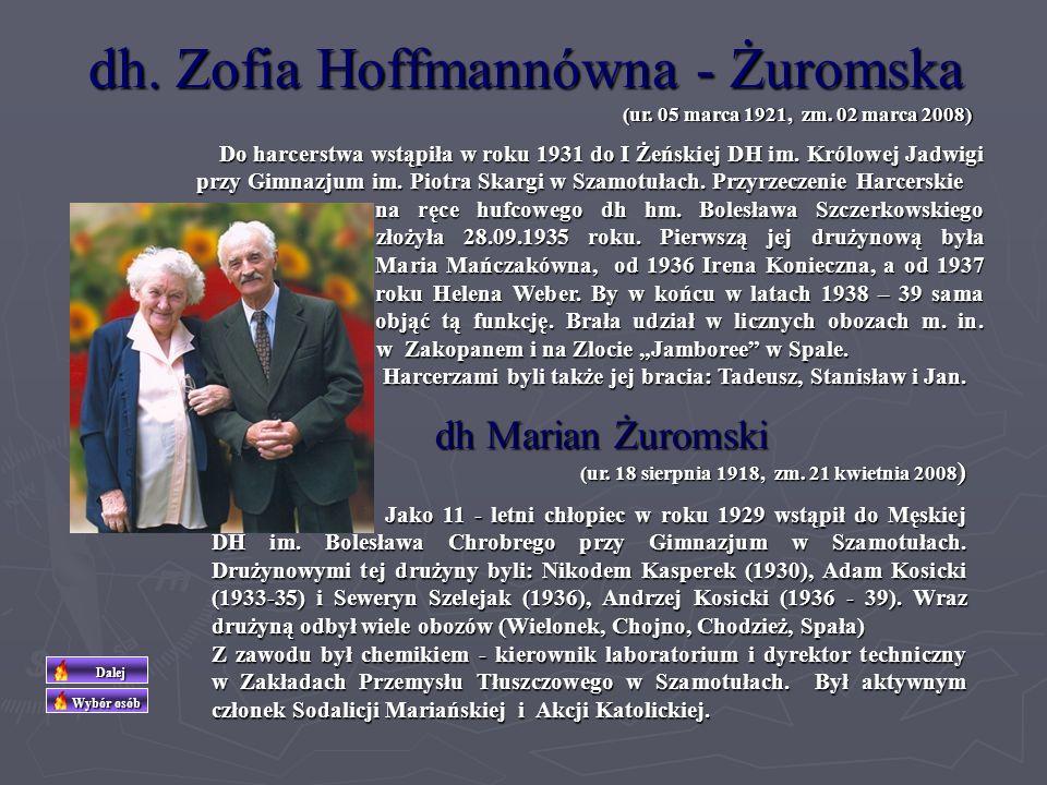dh Józef Bekasiak Na początku lat trzydziestych należał do I DH im. Stefana Czarnieckiego w Szamotułach. W latach 1933 – 35 był jej drużynowym. Należa