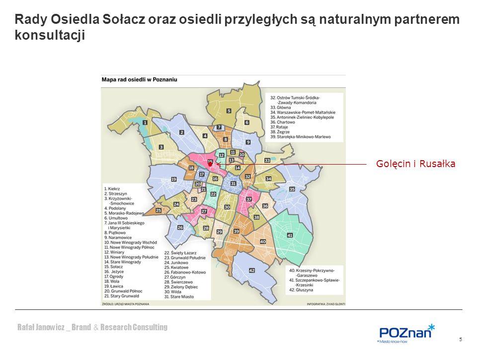 Rafał Janowicz _ Brand & Research Consulting Golęcin i Rusałka _ interesariusze instytucjonalni 6 jednostki miejskie, w tym m.in.