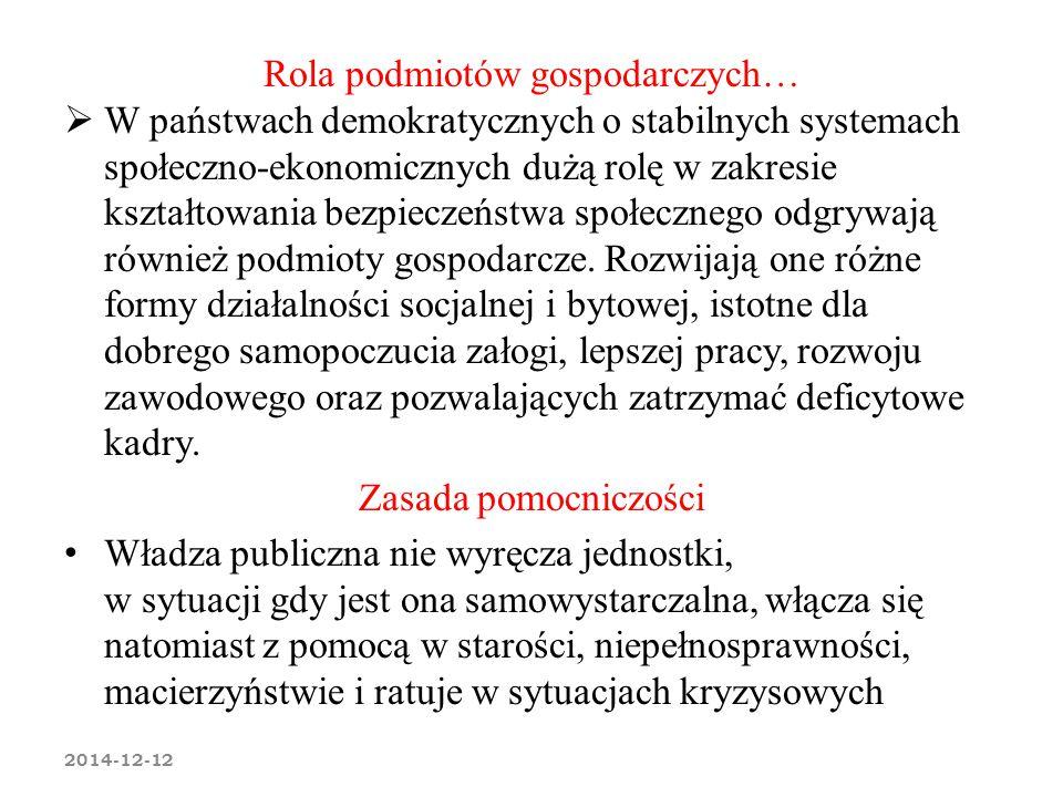 Rola podmiotów gospodarczych…  W państwach demokratycznych o stabilnych systemach społeczno-ekonomicznych dużą rolę w zakresie kształtowania bezpiecz
