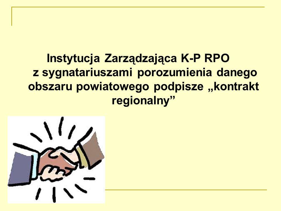 """Instytucja Zarządzająca K-P RPO z sygnatariuszami porozumienia danego obszaru powiatowego podpisze """"kontrakt regionalny"""
